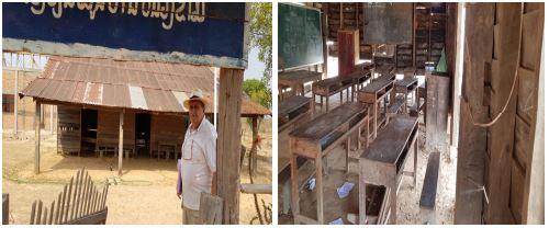 Bâtiment ancien et salle de classe.